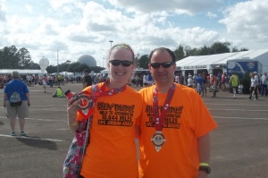 We did it!  Walt Disney World Marathon 2013