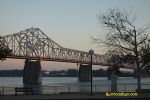 Sunrise over the Ohio and the Clark Memorial Bridge